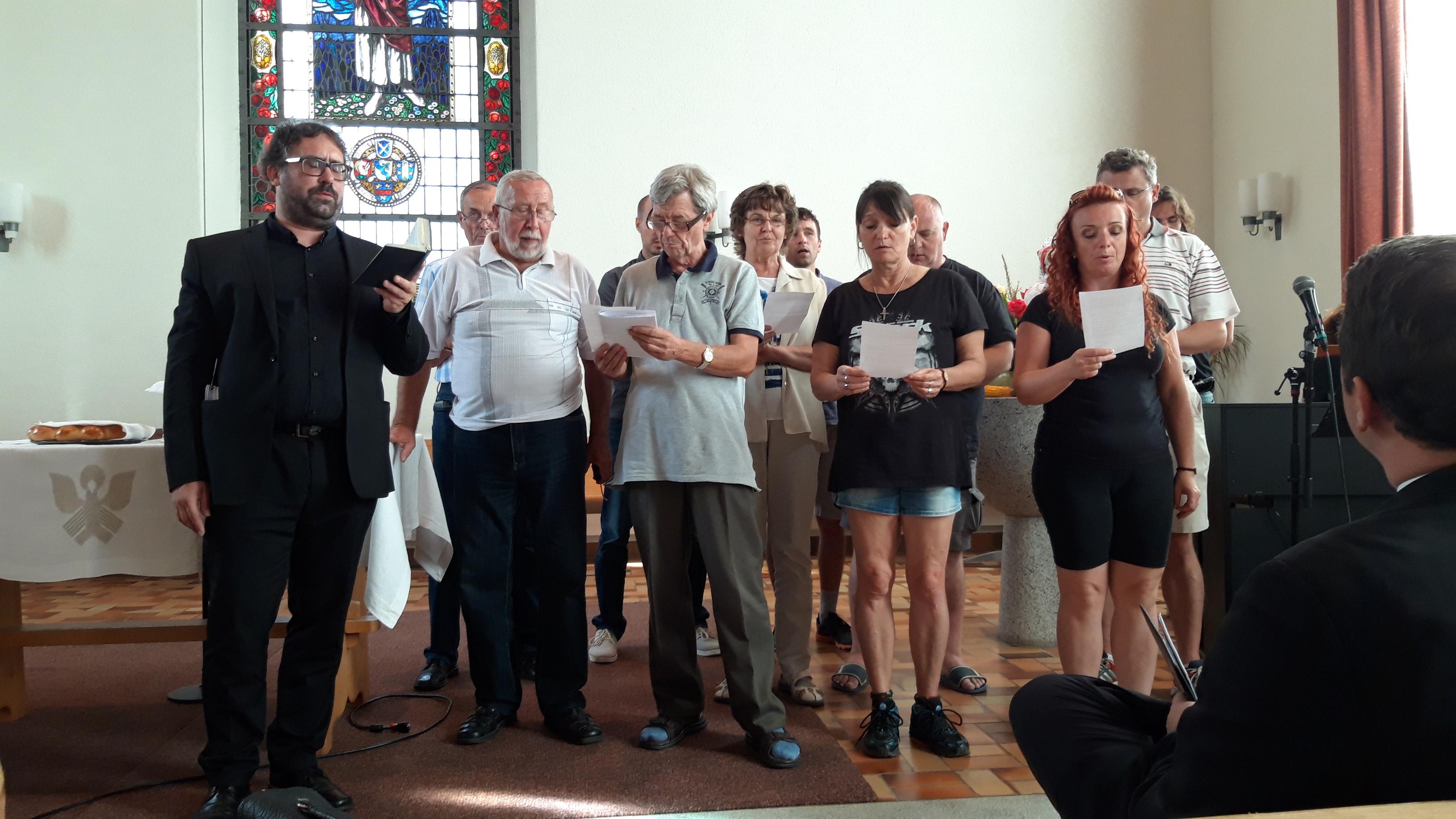 Tschechischer Chor am Gottesdienst